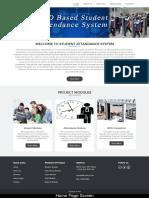 RFID Based Student Attendance System