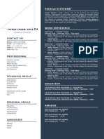 Resume Template A4