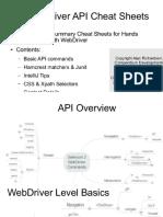 Selenium Cheatsheets Summary Slides