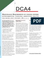 DCA4 Maintenance Requirment