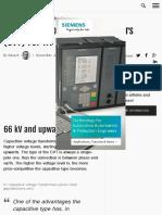 Capacitive Voltage Transformers (CVT) For HV Measurements | EEP