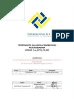 CLM OPER PR 004 Proced Operacion Seg Motoniveladora Rev1