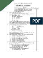 List of Practicals Comps Cx i i