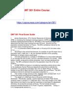 QNT 561 Final Exam Guide