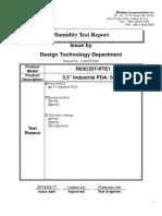 Humidity Heat Test Report_100