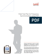 Field Test Plan for Frequency Synchronization Using PTP