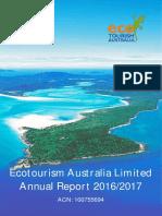 Ecotourism Australia Ltd Annual Report 2016 17