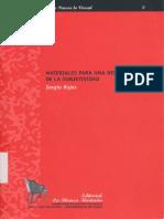 Rojas Sergio - Materiales Para La Historia de La Subjetividad