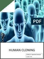 Biology Project -Class 11 - Human Cloning