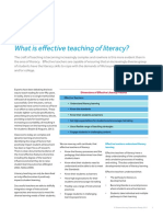 Effective Teaching of Literacy
