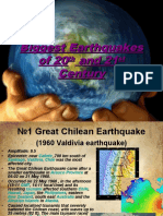 Biggest Earthquakes of 20th and 21st Century