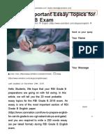 20 Most Important Essay Topics for RBI Grade B Exam - Xamnation