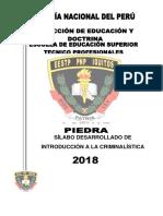 001. Silabo Criminalistica 2018 Ets Iquitos - Banco de Preguntas
