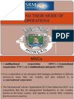 Major players of MNC and Modes of Operations of MNC