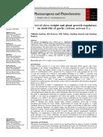 Effect of clove weight and plant growth regulators on shelf-life of garlic (Allium sativum L.)