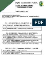 Programaçao Do Curso 2019