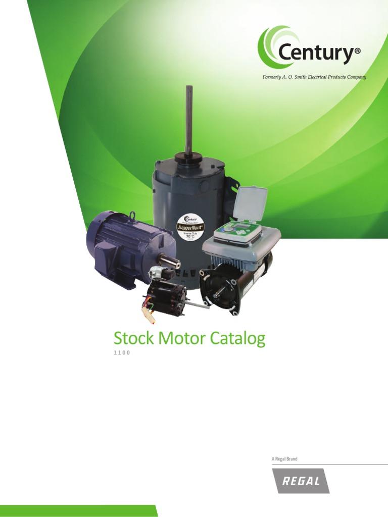 Century_Stock_Motor_Catalog_1100.pdf | Mechanical Fan | Hvac on