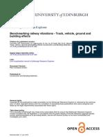 Benchmarking Railway Vibrations Track Vehicle Ground
