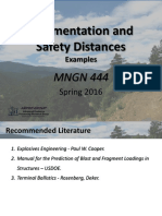 MNGN 444_Fragmentation and Safety Distances _Examples