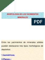 2º Clase - Morfología de Los Yacimientos Minerales