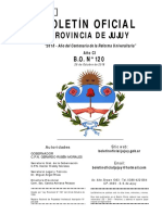 Boletín oficial provincia de Jujuy N° 120