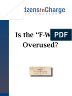 "Is the ""F-word"" Overused? A Report on Petition Signature Fraud"