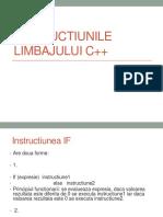 Instructiunile limbajului C++