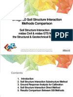 Bridge 3D Soil Structure Interaction Method Comparison