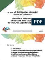 Bridge 3D Soil Structure Interaction Method Comparison