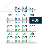 Tarjetas Bingo Silabic