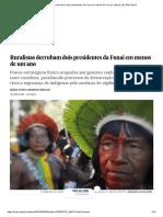 Ruralistas Derrubam Dois Presidentes Da Funai Em Menos de Um Ano _ Brasil _ EL PAÍS Brasil