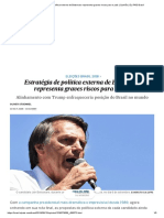 Estratégia de Política Externa de Bolsonaro Representa Graves Riscos Para o País _ Opinião _ EL PAÍS Brasil
