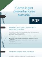 Cómo Lograr Presentaciones Exitosas