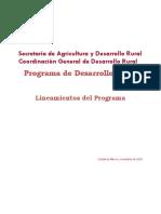 Lineamientos - Programa Desarrollo Rural v.1 06nov18