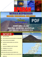Antisipasi Gunung Soputan Tahun 2018