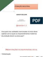 Revisão Groover 2010 Capítulos 1 a 5