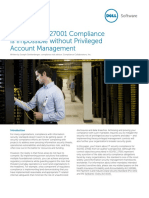 How Iso 27001 Compliance is Impossible Without Privileged Management Technical Brief 17076