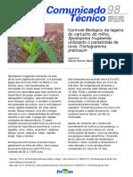 Controle Biologico Da Lagarta Do Cartucho Do Milho Utilizando o Parasitoide de Ovos Trichogramma Pretiosum