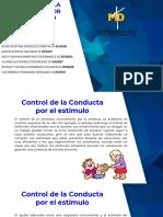 Control de La Conducta Por El Estímulo