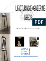 Manufacturing Engineering Need