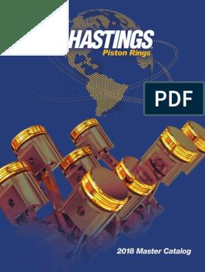 Hastings 2M5613 4-Cylinder Piston Ring Set