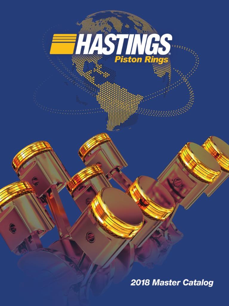 Hastings 2C6134S Single Cylinder Piston Ring Set
