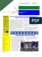 A Kick in the Grass, RL Turner Boys' Soccer Newsletter