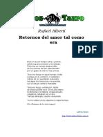 Alberti Merello, Rafael - Retornos Del Amor Tal Como Era.Doc