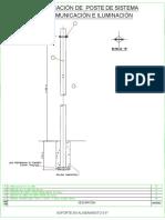1.3 Plano de Detalle de Montaje de Poste Check Dam