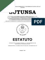 Estatuto del Sindicato Unico de Trabajadores de la UNSA_Sutunsa