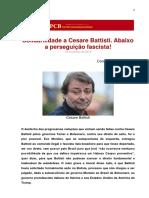 Solidariedade a Cesare Battisti