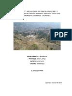 Mejoramiento y Ampliación Del Sistema de Agua Potable y Saneamiento Rural Del Caserío Barranco
