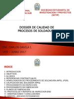 Dossier de Calidad en Procesos de Soldadura