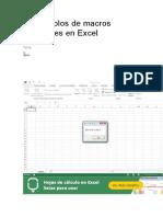 Ejemplos de Macros en Excel
